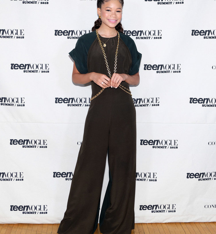 """""""A WRINKLE IN TIME'S"""" STORM REID JOINS OTHER STARS AT TEEN SUMMIT"""