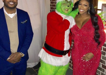 PORSHA WILLIAMS AND FIANCE DENNIS MCKINLEY BUMP IT UP AT A CHRISTMAS PARTY