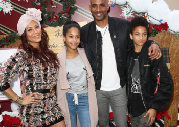 BORIS KODJOE, WIFE AND KIDS ATTEND BROOKS BROTHERS HOLIDAY CELEBRATION
