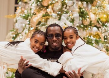 SEAN 'DIDDY' COMBS AND KIDS MARK FIRST CHRISTMAS SINCE KIM PORTER'S DEATH