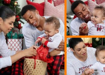 JORDIN SPARKS AND HUSBAND SHARE CHRISTMAS TRADITIONS WITH THEIR BABY BOY