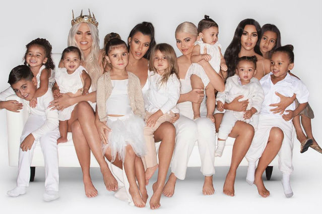 Kim Kardashian Shares The Annual Kardashian/Jenner Christmas Card