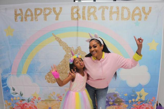 STEVIE J AND MIMI FAUST CELEBRATE THEIR DAUGHTER'S 9TH