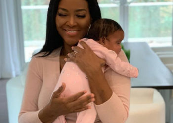KENYA MOORE DOTES ON BABY BROOKLYN DALY