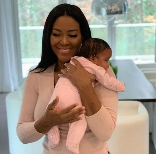 KENYA MOORE DOTES ON BABY BROOKLYN DALY