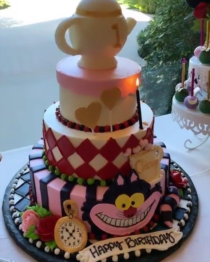 KIM KARDASHIAN THROWS DAUGHTER CHICAGO WEST AN 'ALICE IN WONDERLAND' BIRTHDAY PARTY
