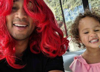 JOHN LEGEND AND CHRISSY TEIGEN'S DAUGHTER, LUNA, LOVES HER RED WIG