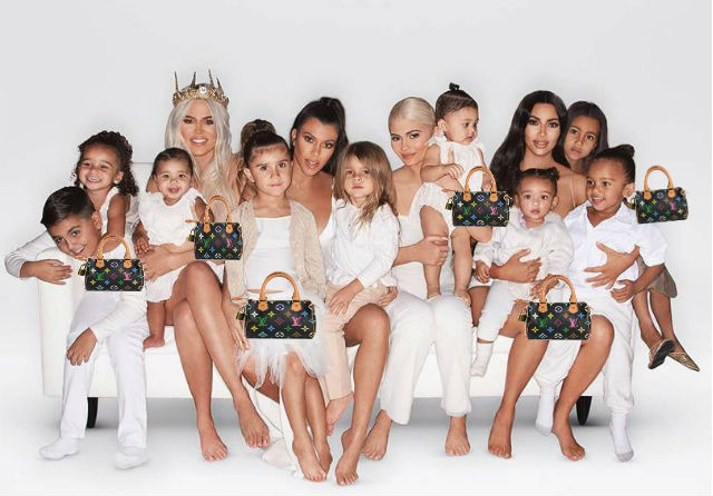 KEEPING UP WITH THE KARDASHIAN KIDS: KIM KARDASHIAN GOT ALL THE 'BABY GIRLS IN THE FAM' MINI LV BAGS