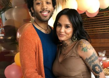 KEHLANI AND BABY DADDY JAVIE YOUNG WHITE CELEBRATE AT THEIR BABY SHOWER