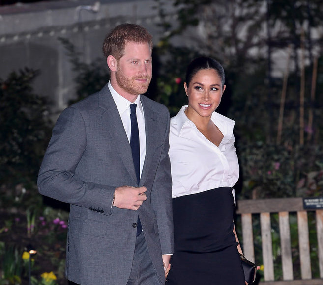 Prince Harry, Duke of Sussex and Meghan, Duchess of Sussex attend the Endeavour Fund awards at Drapers' Hall on February 7, 2019 in London, England.