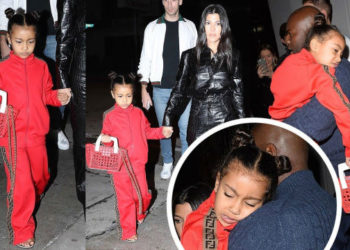 NORTH WEST ROCKS HEAD-TO-TOE FENDI WHILE OUT WITH FAMILY