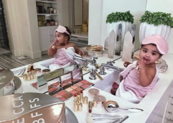 TRUE THOMPSON APPROVES OF HER MOM KHLOE KARDASHIAN'S BECCA MAKEUP LINE