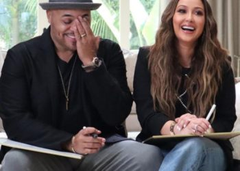 ADRIENNE BAILON'S HUSBAND COMES TO HER DEFENSE AFTER TROLL BABY SHAMES HER