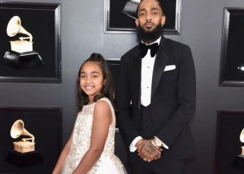 NIPSEY HUSSLE ATTENDS GRAMMYS WITH LAUREN LONDON AND HIS DAUGHTER