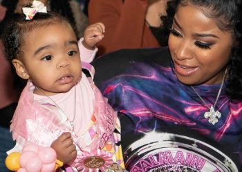 TOYA WRIGHT THROWS FIRST BIRTHDAY PARTY FOR DAUGHTER REIGN RUSHING