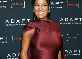 TAMRON HALL SHOWS OFF HER BABY BUMP AT THE ADAPT LEADERSHIP AWARDS GALA