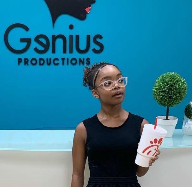 MARSAI MARTIN POSING IN HER GENIUS PRODUCTION STUDIO IS BLACK GIRL MAGIC