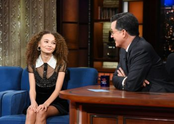DUMBO STARS NICO PARKER STOP BY THE STEPHEN COLBERT SHOW