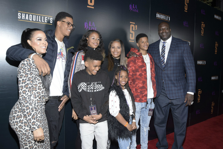 SHAQ OPENS L.A. RESTAURANT WITH HIS KIDS AND EX-WIFE BY HIS SIDE