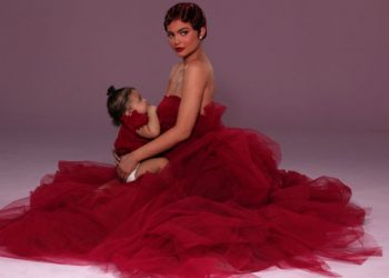 KYLIE JENNER AND BABY STORMI WEBSTER ARE RED HAUTE IN NEW PHOTOS