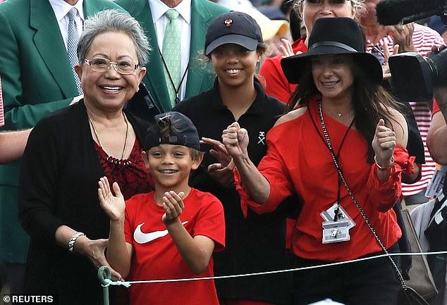 tiger woods celebrates with his children after masters win   u0026 39 it u0026 39 s unreal u0026 39