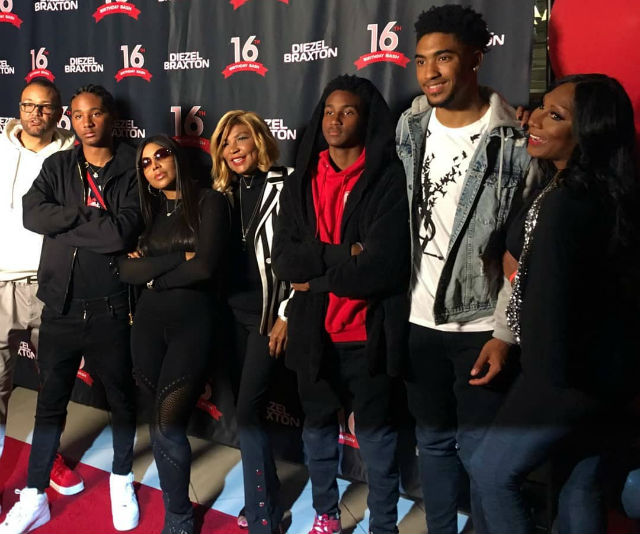 TONI BRAXTON'S YOUNGEST SON, DIEZEL, CELEBRATES HIS SWEET