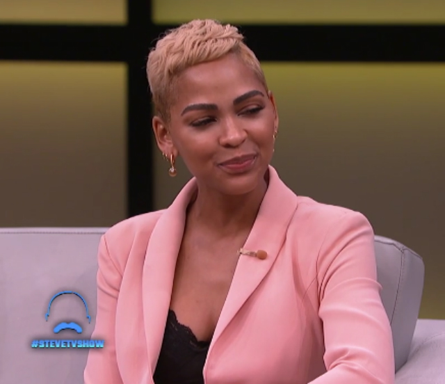 foto de MEAGAN GOOD REVEALS TO STEVE HARVEY THAT SHE IS READY TO