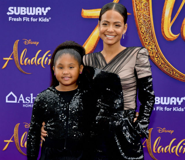 CHRISTINA MILIAN AND DAUGHTER ATTEND 'ALADDIN' LOS ANGELES