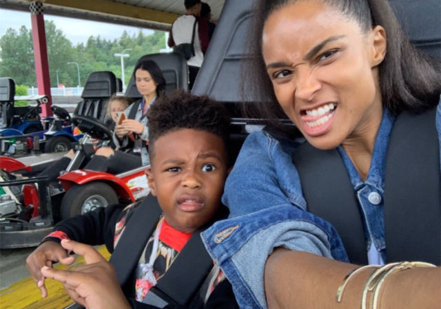 Ciaras Son Future Zahir Wilburn: CIARA AND FUTURE THREW THEIR SON SEPARATE 'SUPERHERO' PARTIES