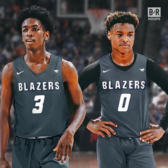 quality design a3c45 051a0 ZAIRE WADE AND BRONNY JAMES HIT THE COURT MAKING MOVES LIKE ...