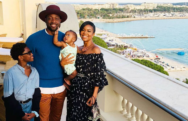 GABRIELLE UNION, DWYANE WADE, BABY KAAVIA AND ZION WADE LIVE IT UP