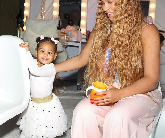 Miraculous Beyonce Shares Photos From Blue Ivys Rose Gold Birthday Party Personalised Birthday Cards Veneteletsinfo