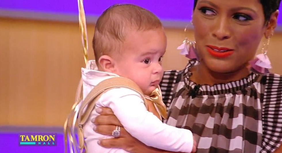 Happy Birthday Tamron Hall S Baby Boy Makes His Television Debut