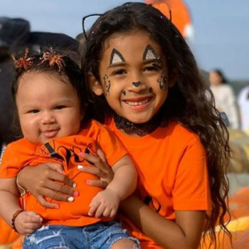 NIA GUZMAN HEADS TO THE PUMPKIN PATCH WITH HER KIDS ROYALTY BROWN AND SINATRA
