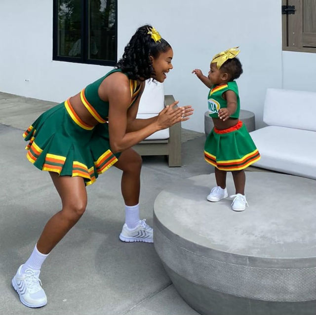 Gabrielle Union and daughter Kaavia match in 'Bring It On' Halloween costumes