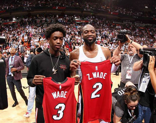 DWYANE WADE'S SON, ZAIRE WADE, CLIMBS UP IN RANKING - BCK