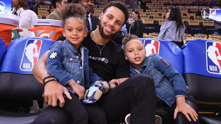 Stephen Curry And Kids Spotted At Recent Warriors Game