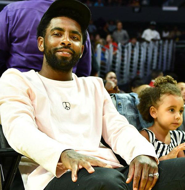 KYRIE IRVING CELEBRATES DAUGHTER'S