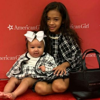CHRIS BROWN'S DAUGHTER, ROYALTY BROWN, TWINS WITH BABY SISTER FOR 'AMERICAN GIRL' BRUNCH