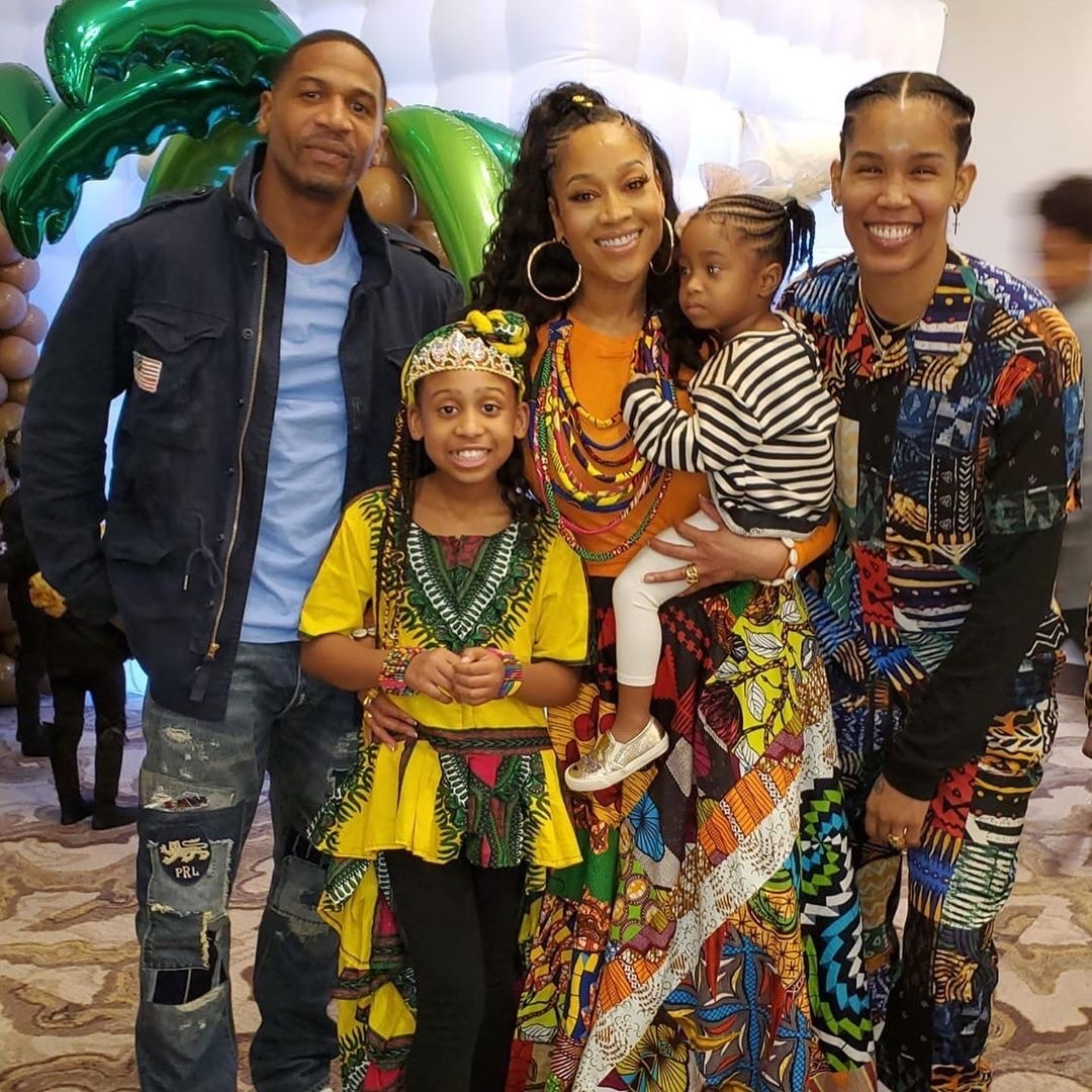 L to R: STEVIE J, BIRTHDAY GIRL EVA GISELLE,MIMI FAUST, TAMERA YOUNG A.K.A TY, AND BONNIE BELLA