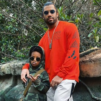 CIARA SHARES ADORABLE PHOTOS OF HUSBAND RUSSELL WILSON AND SON FUTURE