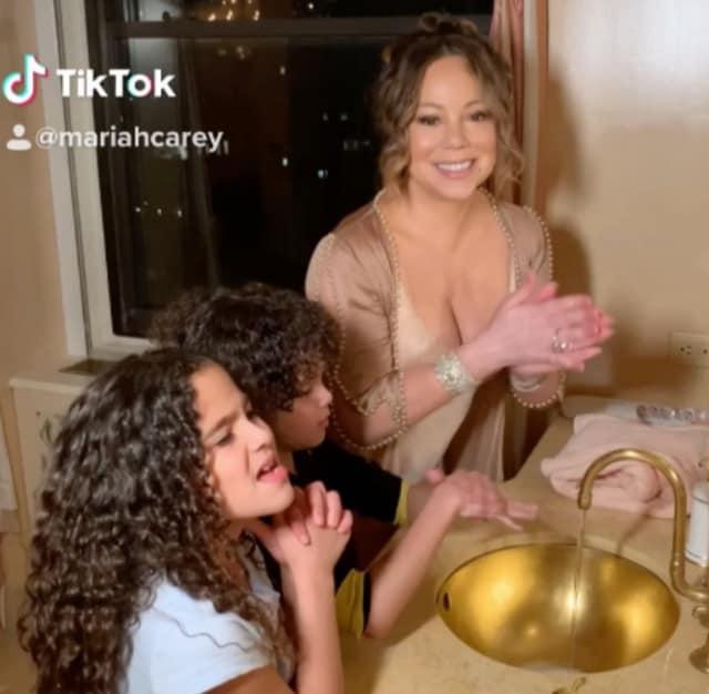 MARIAH CAREY AND KIDS GO VIRAL ON TIK TOK AFTER SHARING 'FANTASY' HAND-WASHING VIDEO