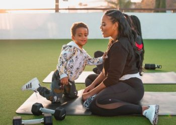 GUHH STAR ANGELA SIMMONS IS HAVING FUN WHILE INDOORS WITH HER SON