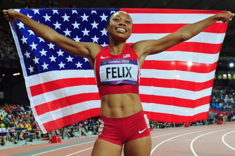 Allyson Felix flag