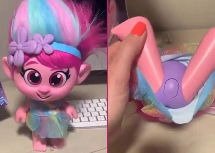 'Disturbing': Hasbro pulls Trolls doll after complaints over 'inappropriate' button