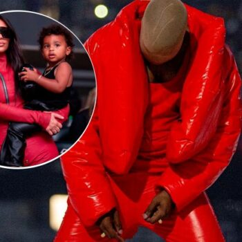 KANYE WEST CRIES ABOUT 'LOSING HIS FAMILY' AT 'DONDA' LISTENING PARTY WITH KIM AND KIDS